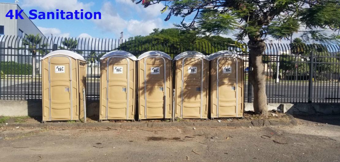 4k Sanitation - Oahu's best source for Porta Potty rentals